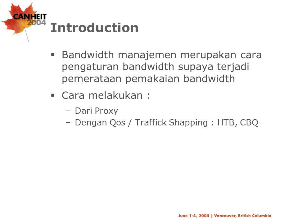Bandwidth management Dgn Squid