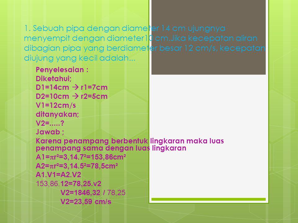 PERSAMAAN KONTINUITAS OLEH : RIFKY BUDI PRATAMA 20110110145