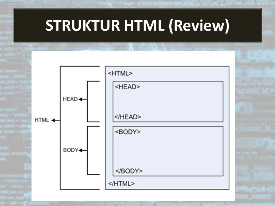 STRUKTUR HTML (Review)