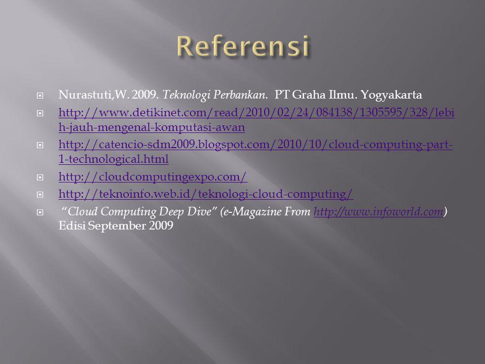  Nurastuti,W.2009. Teknologi Perbankan. PT Graha Ilmu.