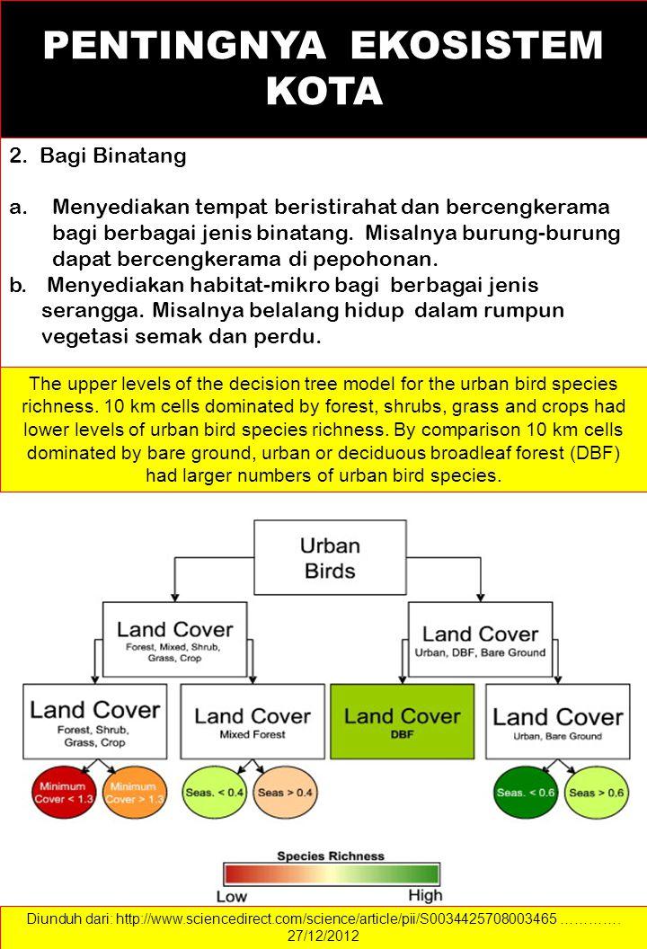 c. Tumbuhan hijau dapat mengurangi kelelahan mata manusia karena pepohonan hijau dapat mengurangi intensitas silau- cahaya d. Tumbuhan membantu menyei