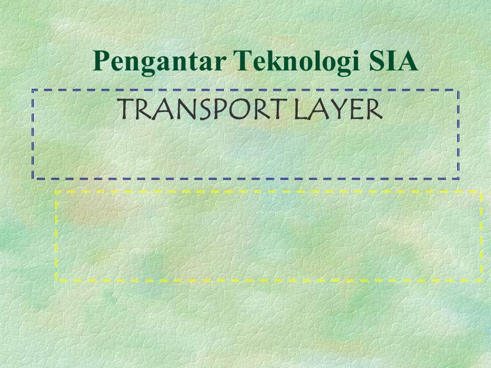 Pengantar Teknologi SIA TRANSPORT LAYER