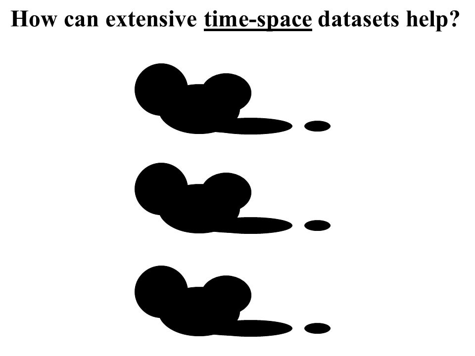 How can extensive time-space datasets help?