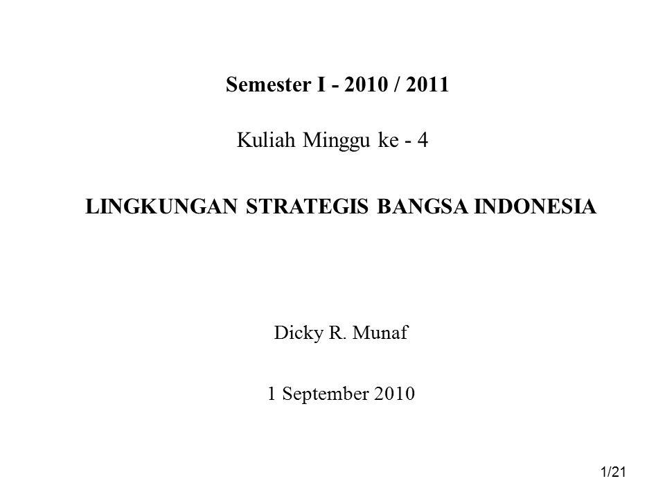 DRM (Ref : DM 090304) 2/21 Tujuan Pemberian Materi Paham bahwa sebelum mengerti tentang Visi Bangsa Indonesia dalam RPJM 04 - 09 terdapat beberapa tantangan dan peluang yang mendasarinya.