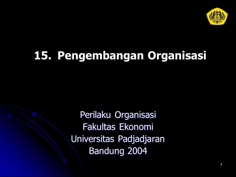 1 15.Pengembangan Organisasi Perilaku Organisasi Fakultas Ekonomi Universitas Padjadjaran Bandung 2004