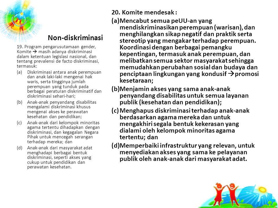 Non-diskriminasi 20.