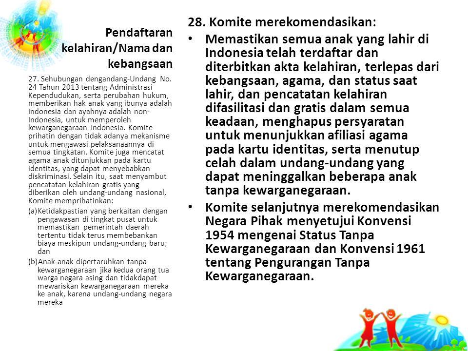 Pendaftaran kelahiran/Nama dan kebangsaan 28.