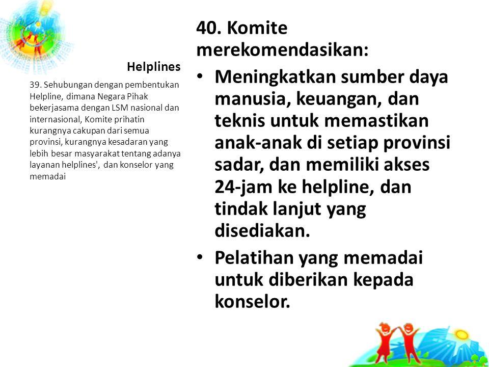 Helplines 40.