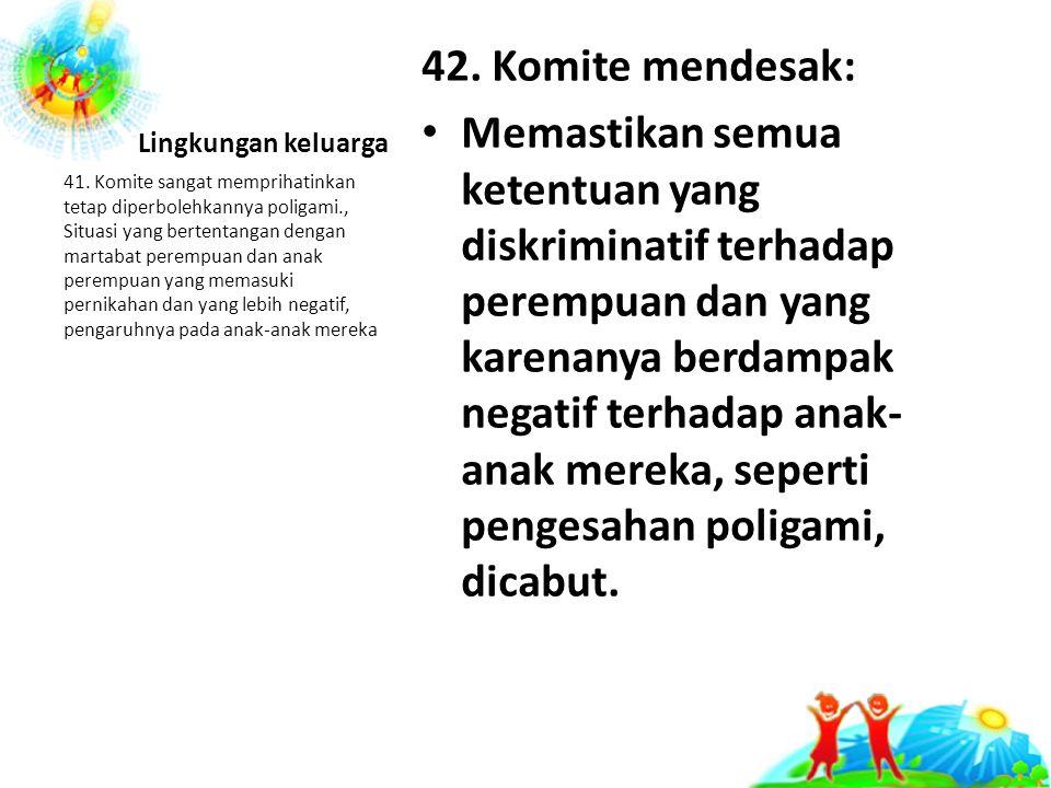 Lingkungan keluarga 42.