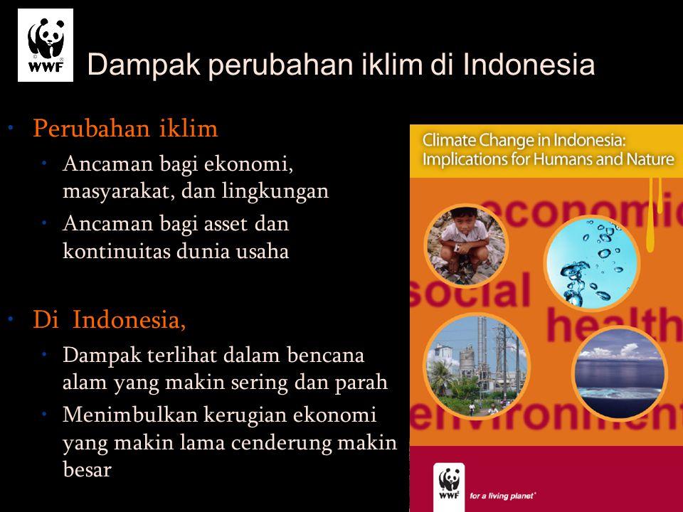 Dampak perubahan iklim di Indonesia Perubahan iklim Ancaman bagi ekonomi, masyarakat, dan lingkungan Ancaman bagi asset dan kontinuitas dunia usaha Di