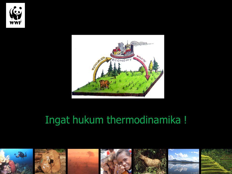 From stocks to flows Ingat hukum thermodinamika !