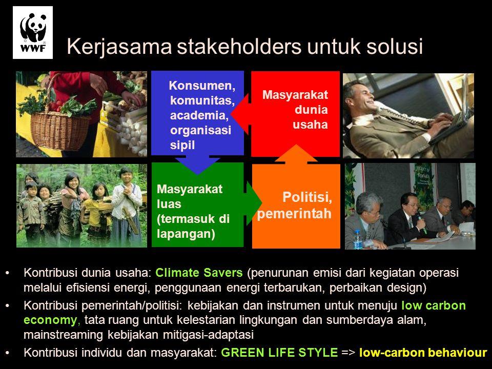 Konsumen, komunitas, academia, organisasi sipil Politisi, pemerintah Masyarakat luas (termasuk di lapangan) Masyarakat dunia usaha Kerjasama stakehold