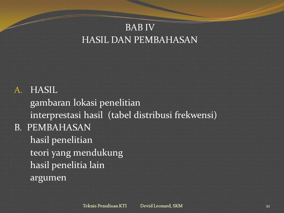 BAB IV HASIL DAN PEMBAHASAN A.