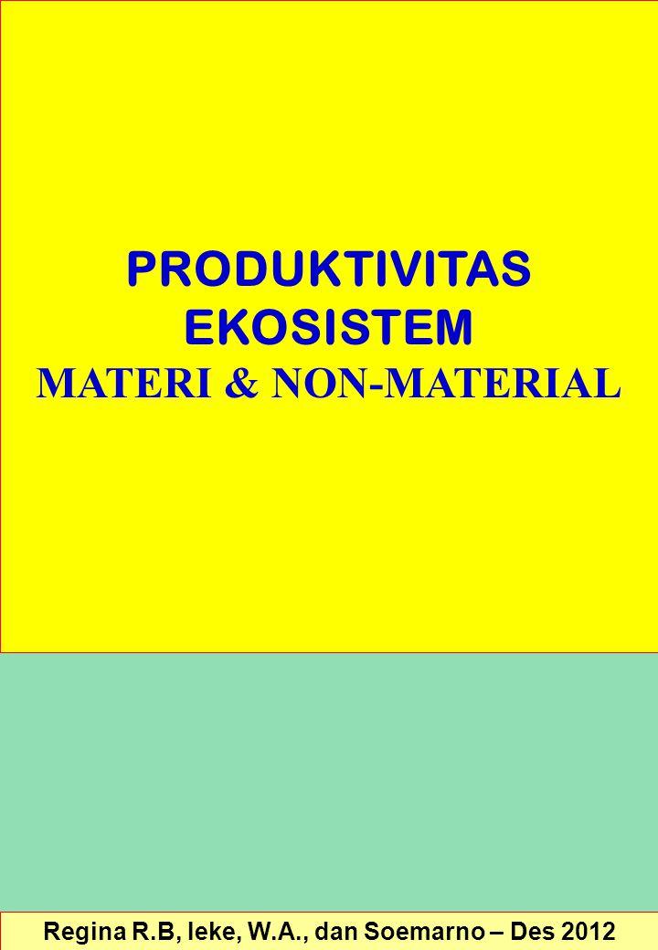 PRODUKTIVITAS EKOSISTEM MATERI & NON-MATERIAL Regina R.B, Ieke, W.A., dan Soemarno – Des 2012