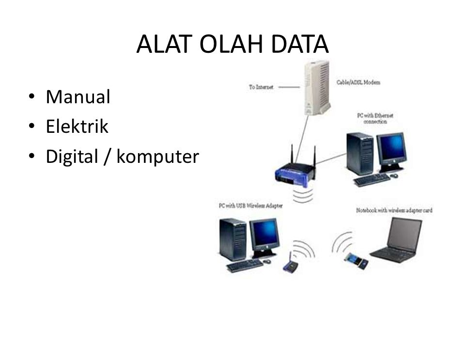 ALAT OLAH DATA Manual Elektrik Digital / komputer