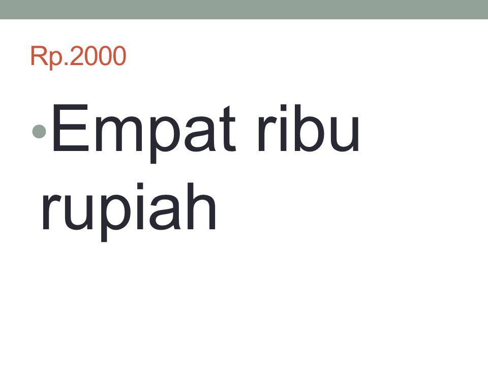 Rp.2000 Empat ribu rupiah
