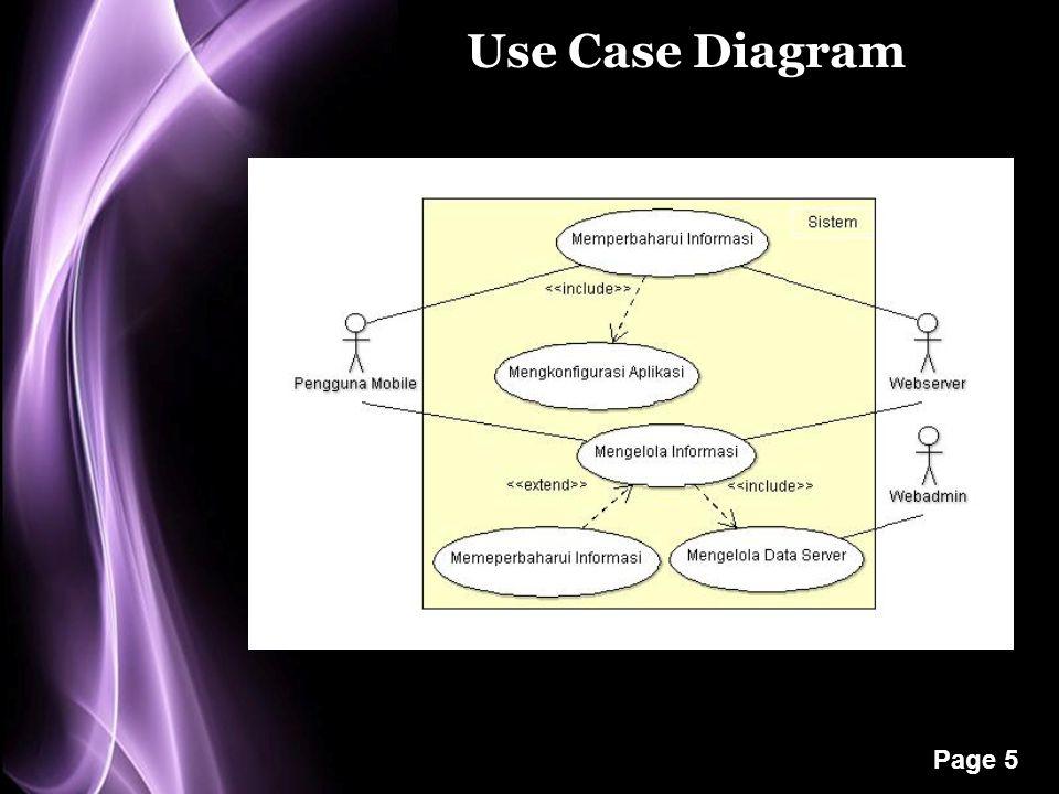 Page 5 Use Case Diagram