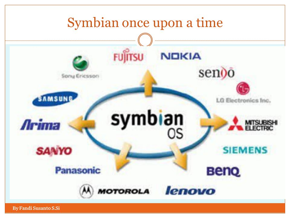 Symbian once upon a time By Fandi Susanto S.Si