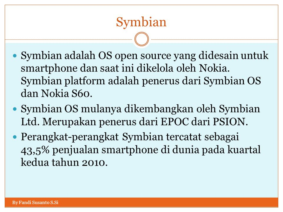 Good to know / learn By Fandi Susanto S.Si HTML5, javascript, Flash, Silverlight