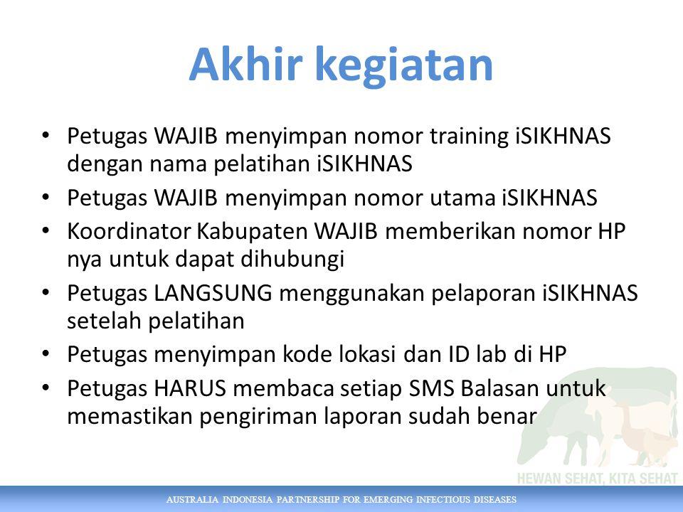 AUSTRALIA INDONESIA PARTNERSHIP FOR EMERGING INFECTIOUS DISEASES NOMOR iSIKHNAS 0812 900 90009