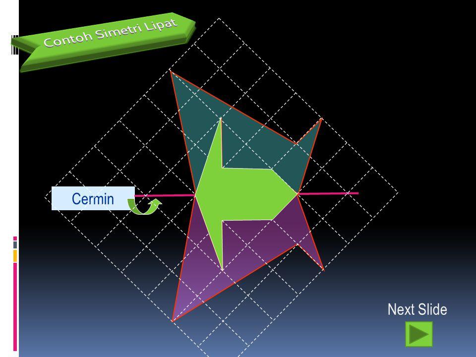 7 Cermin Next Slide Contoh Simetri Cermin/Lipat