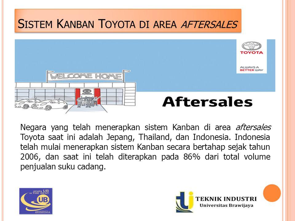S ISTEM K ANBAN T OYOTA DI AREA AFTERSALES Negara yang telah menerapkan sistem Kanban di area aftersales Toyota saat ini adalah Jepang, Thailand, dan