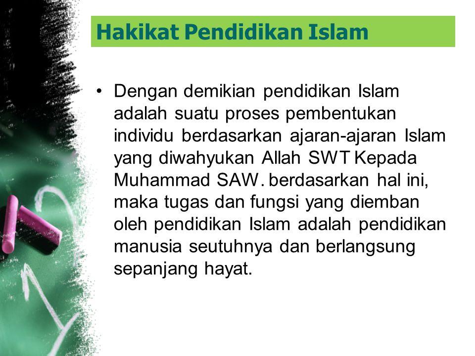 Sementara itu, Hasan Langgulung merumuskan pendidikan Islam sebagai suatu proses penyiapan generasi muda untuk mengisi peranan, memindahkan kemampuan