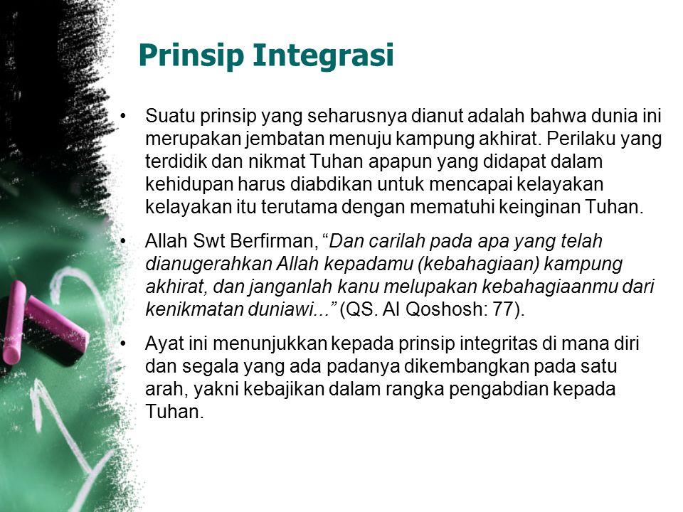 Prinsip-prinsip Pendidikan Islam Memang tidak diragukan bahwa ide mengenai prinsip-prinsip dasar pendidikan banyak tertuang dalam ayat-ayat al Qur'an