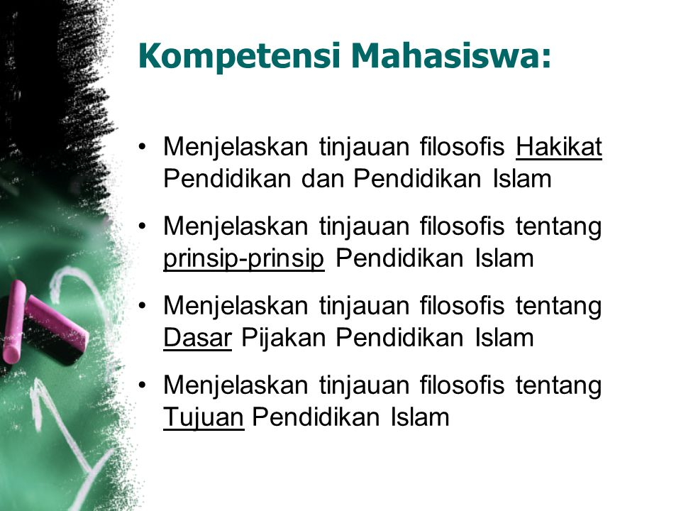 Filsafat Pendidikan Islam Konsep Filosofis Tentang Arti, Prinsip, Dasar dan Tujuan Pendidikan Islam Andi Thahir, S.Pt,S.Psi,M.A