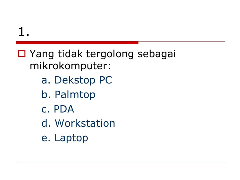 1. Yang tidak tergolong sebagai mikrokomputer: a.