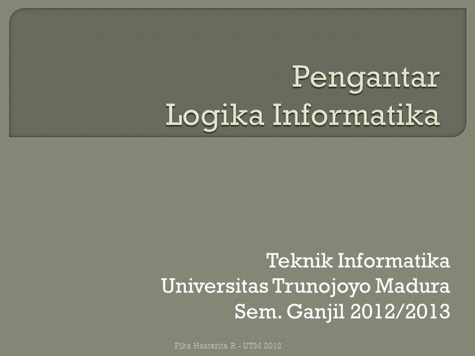 Teknik Informatika Universitas Trunojoyo Madura Sem. Ganjil 2012/2013 Fika Hastarita R - UTM 2012
