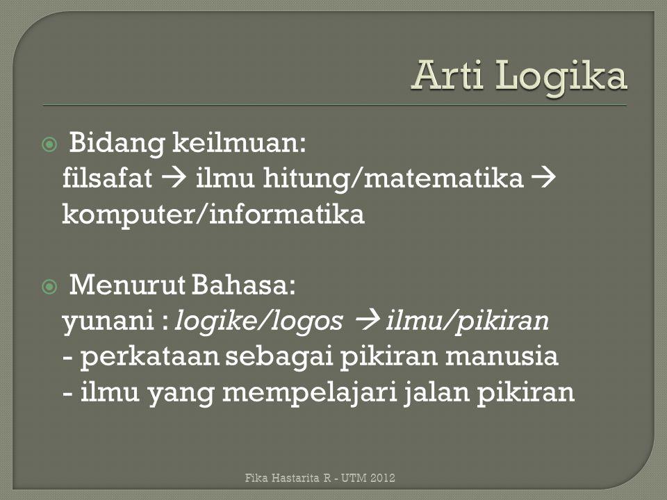  Cari 2 permasalahan yang diselesaikan dengan menggunakan program komputer dan tunjukkan sisi logika informatikanya..