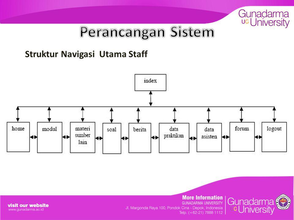 Struktur Navigasi Utama Staff