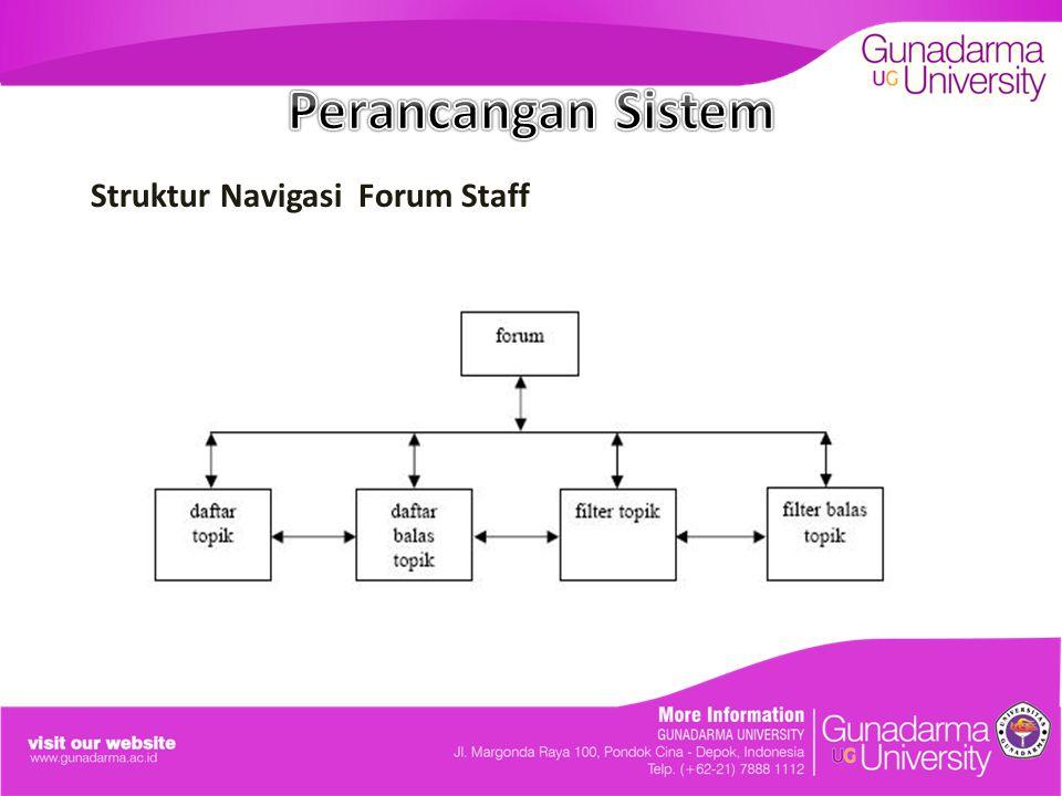 Struktur Navigasi Forum Staff