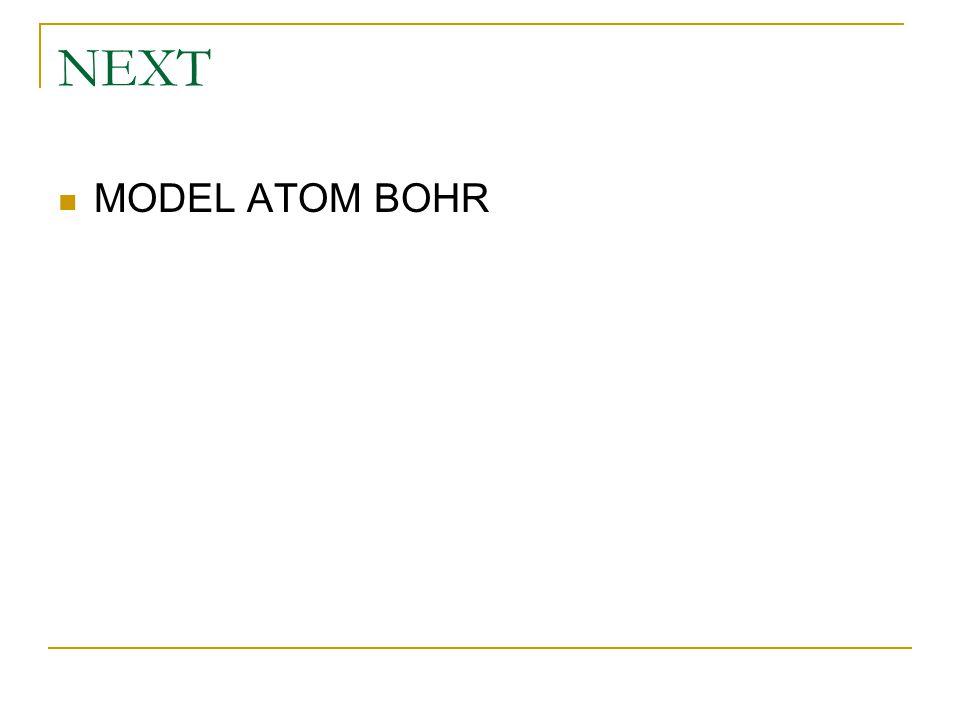 NEXT MODEL ATOM BOHR
