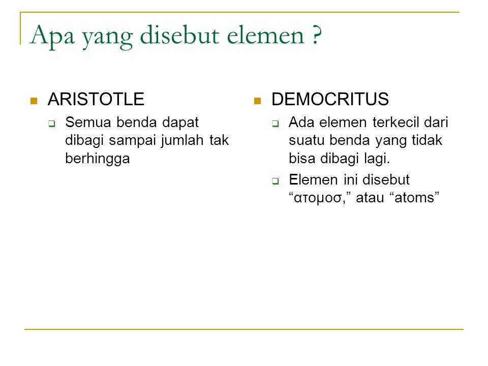 Apa yang disebut elemen .