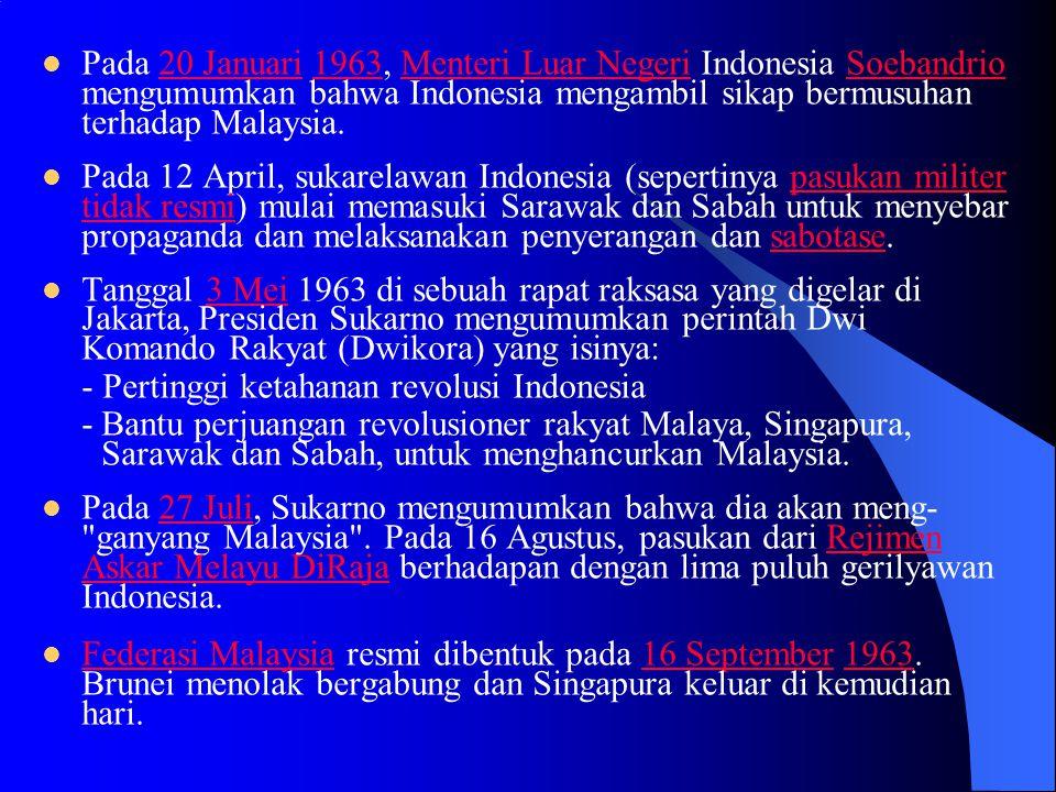 Perundingan antara Malaysia, Filipina dan Indonesia pada April 1963 sampai Agustus 1963.