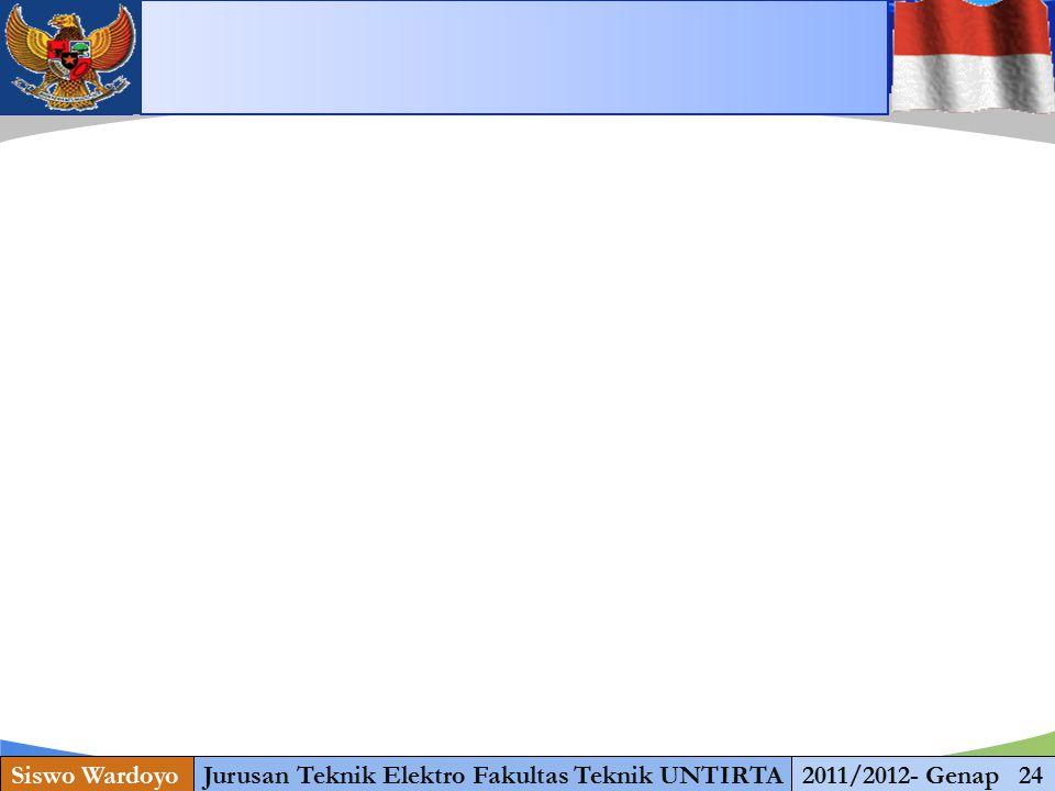 www.themegallery.com Siswo WardoyoJurusan Teknik Elektro Fakultas Teknik UNTIRTA2011/2012- Genap 24 1 13