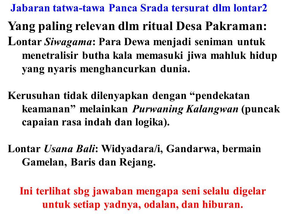 Tantra: spiritual norms & practice – ritual forms Mudra Aktivitas penanganan (SUSILA: Trikaya Parisuda) Yantra Wujud ritual (PANCA YADNYA) Mantra Isi,