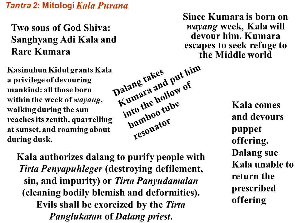 PertemuanNYA dgn Dewi Durga menghasilkan buha kala Merindukan Dewi Parwati, Hyang Siwa transformasi menjadi Kala Rudra. SOMYA RUPA ISWARA= Dalang Sang