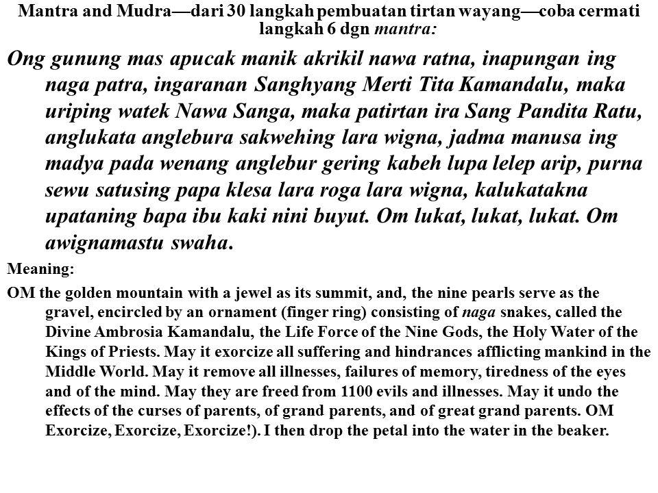 Detya Darika Membuat terror Dewa Brahma God Siva Dewa & Rsi Tantra3: Mitos Wayang Tolpavakoothu India DEVI BHADRAKALI/ BHAGAWATI Menggunakan senjata N