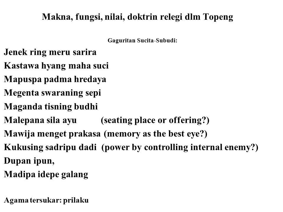 Mantra and Mudra—dari 30 langkah pembuatan tirtan wayang—coba cermati langkah 6 dgn mantra: Ong gunung mas apucak manik akrikil nawa ratna, inapungan