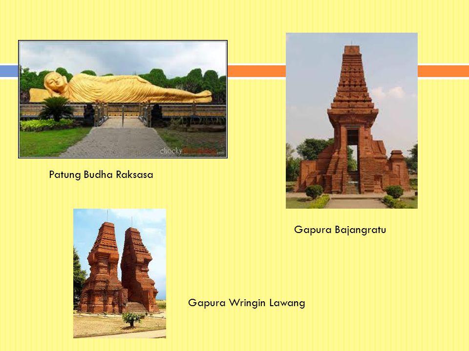 Patung Budha Raksasa Gapura Bajangratu Gapura Wringin Lawang