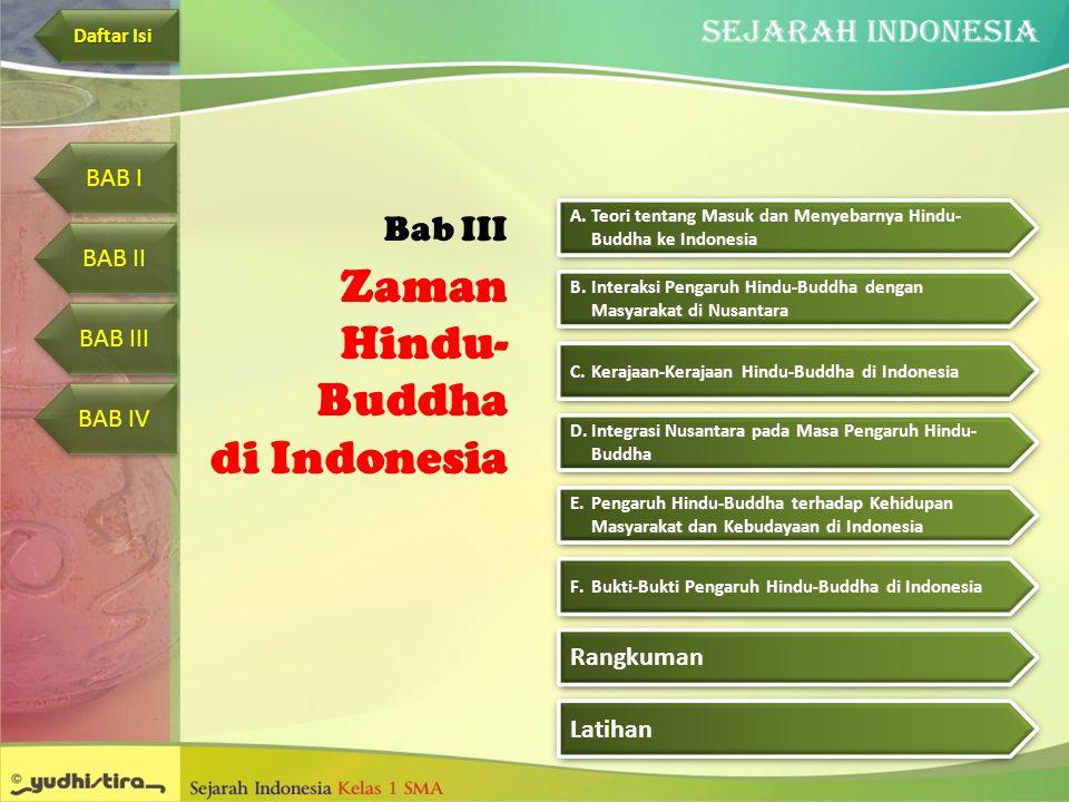Zaman Hindu- Buddha di Indonesia Bab III C.Kerajaan-Kerajaan Hindu-Buddha di IndonesiaKerajaan-Kerajaan Hindu-Buddha di Indonesia C.Kerajaan-Kerajaan