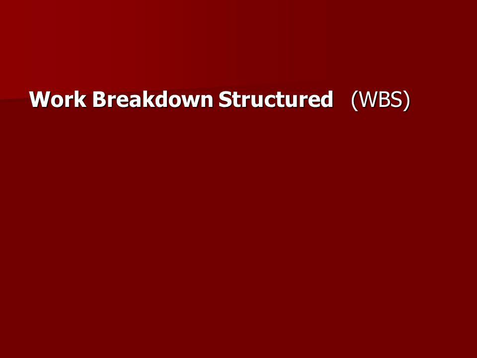 Work Breakdown Structured (WBS)