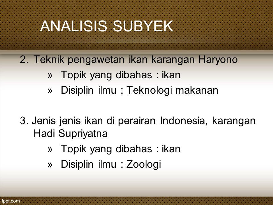 ANALISIS SUBYEK c.