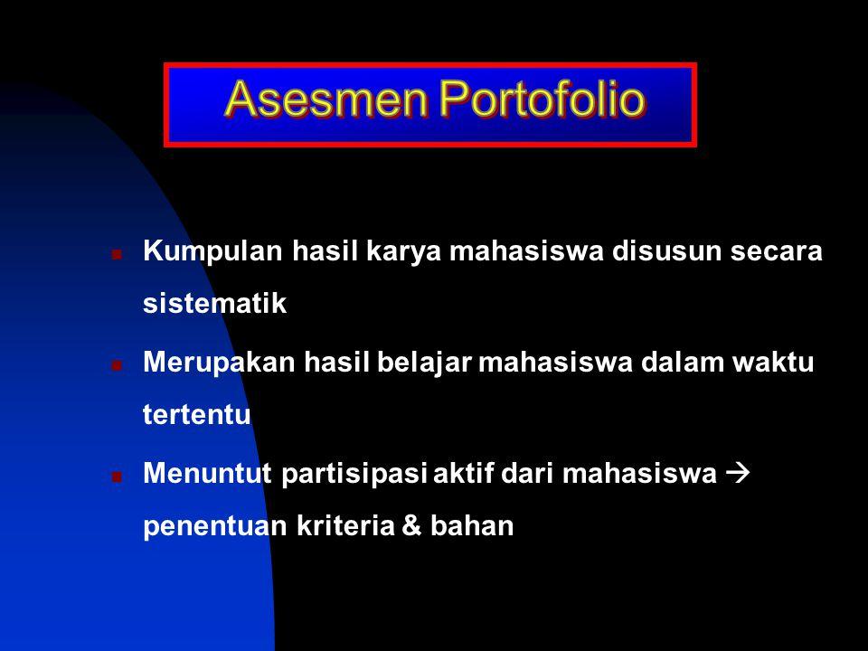Petunjuk penskoran yang digunakan dalam penilaian subjektif berisi kriteria yang akan dinilai  deskripsi karakteristik Rubrik Kegiatan/tugas yang aka