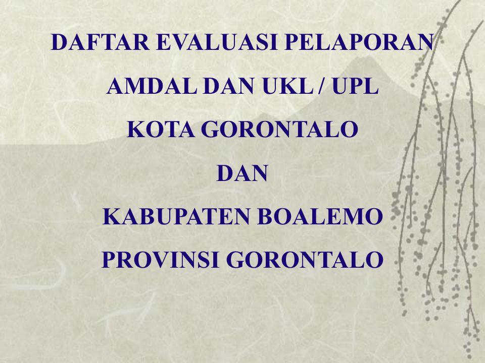 No.NAMA PERUSAHAAN/ INSTANSI PEMRAKARSA JENIS KEGIATAN LOKASIDOKUMEN PELAPORAN KET AMDALUKL/ UPL THN 38.