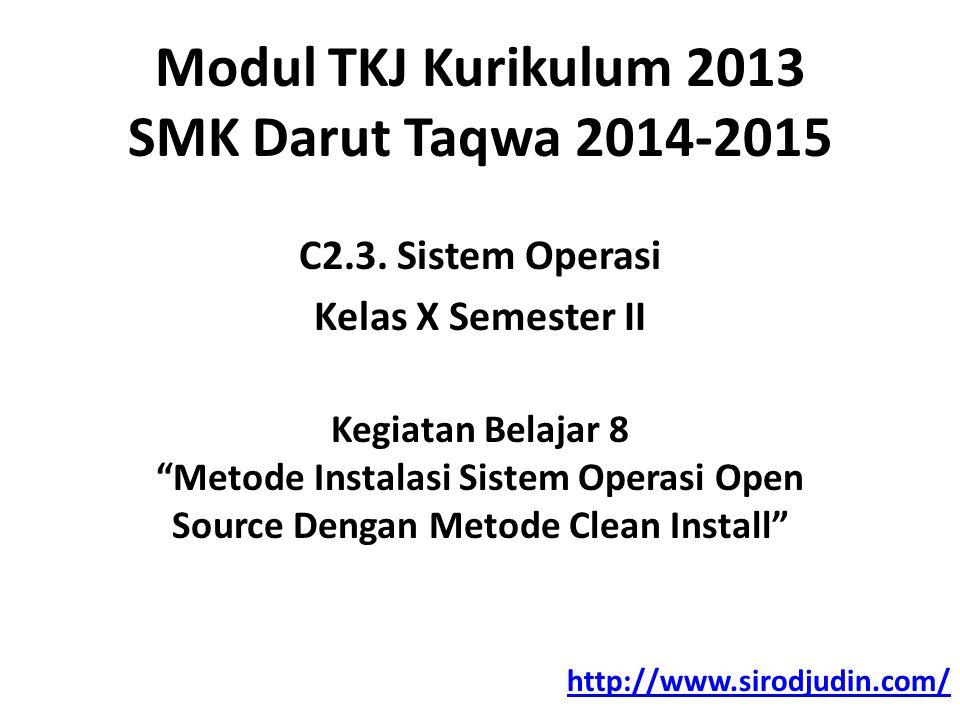 Modul TKJ Kurikulum 2013 SMK Darut Taqwa 2014-2015 C2.3.