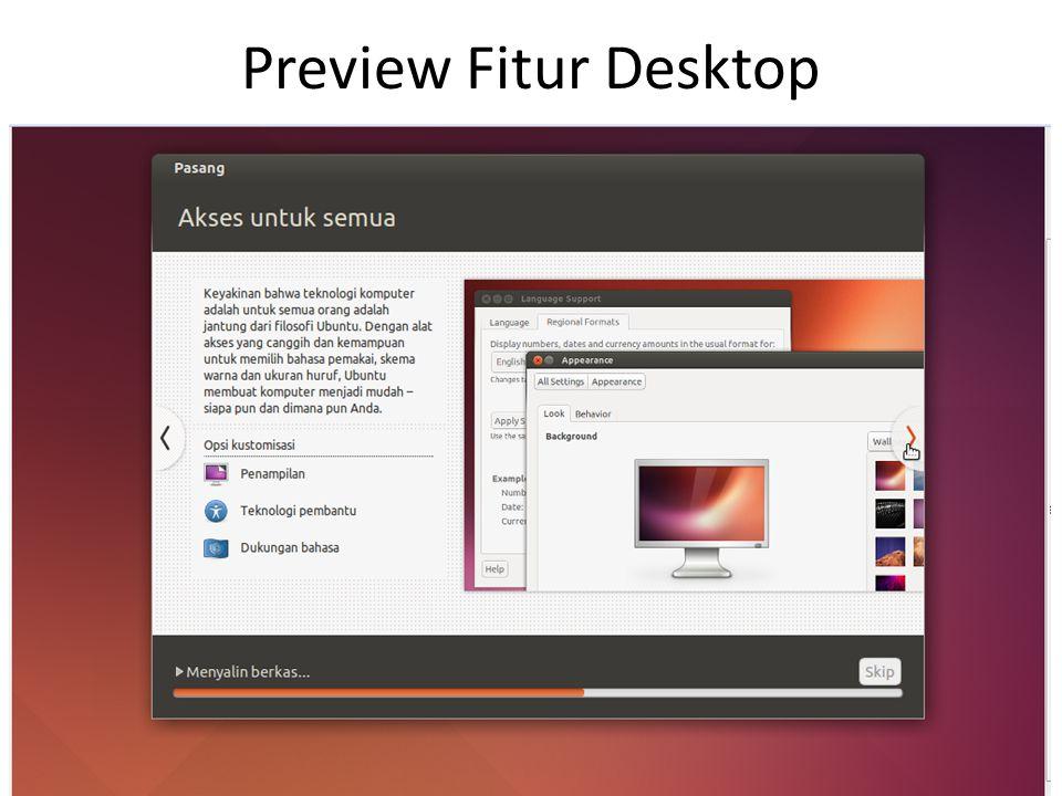 Preview Fitur Desktop